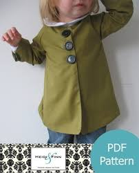 cute jacket pattern chic everyday coat pattern and tutorial pdf 12m 6t easy sew epattern