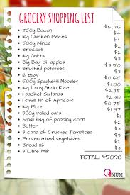 Grocery Shopping List Template 50 Week Grocery Shop