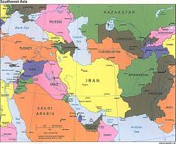 Map Of North Africa And The Middle East by