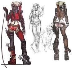 harley quinn designs i always like seeing sketches