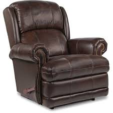 la z boy kirkwood standard leather manual rocker recliner with