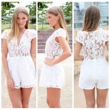 womens rompers and jumpsuits unique style womens lace jumpsuit rompers whitel lace