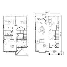 Narrow House Plans by Narrow Lot Home Plans With Front Garage