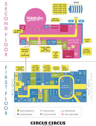 Las Vegas Hotel Strip Map by Circus Circus Hotel Casino U0026 Theme Park