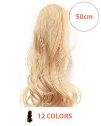 clip on ponytail clip ponytail hair extensions 50cm shoplonghair