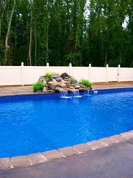 interior scenic pool waterfalls ideas home design and interior