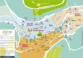 tzfat maps of tzfat u2013 tourists in israel