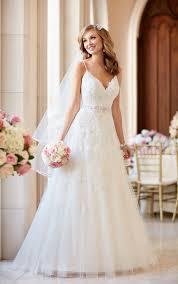 gowns wedding dresses a line wedding dress with v neckline stella york