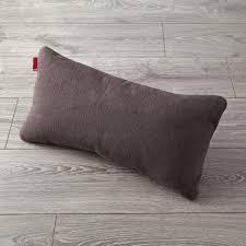 milo grey lumbar pillow the land of nod