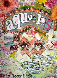 aquarius art print aquarius art zodiac art by thisrosylife on