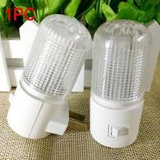 crystal plug in night light new 4 led patch lights 3w night light plug energy saving crystal