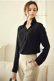 black and white blouses jhonpeter formal wear sleeved shirt and blouse black