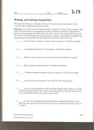 writing and solving inequalities worksheet worksheets for