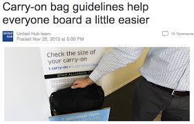 carry on size united united airlines changes its carry on policies more time to travel