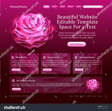 beautiful website template woman beauty products stock vector
