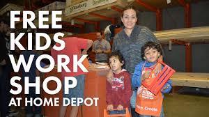 free kids workshop at home depot youtube