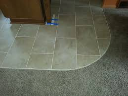 transition from carpet to tile tile pinterest basements