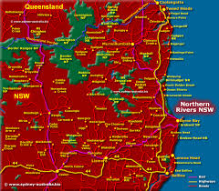 map of new south wales northern rivers map nsw