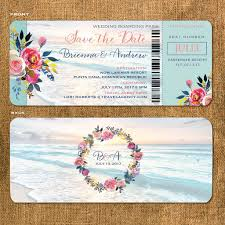 boarding pass invitations boho boarding pass save the date gold floral