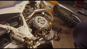 motorcycle clutch removal yamaha serow xt 225 youtube