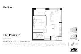 condo floor plans we like at the roncy condos condo studio