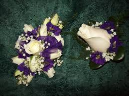corsage and boutonniere for prom prom flowers