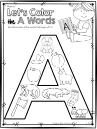 color the a pictures letter sound matching educational things
