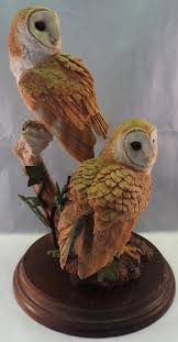 country artists barn owls in ornaments