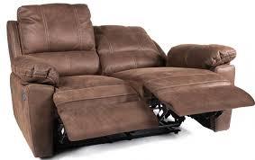 canapé 2 places relax cuir canapé de relaxation 2 places manuel cuir marron avec surpiqûre duck