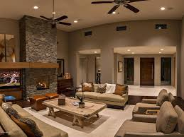 contemporary living room with hardwood floors u0026 ceiling fan