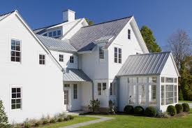 silver metal roof with casement window exterior traditional and