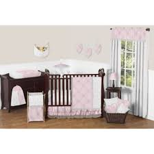 buy pink damask crib bedding from bed bath u0026 beyond