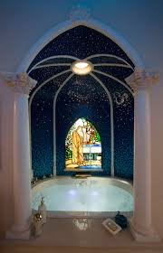 bathtub in the master bath of the disneyland dream suite at