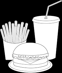 fast food coloring pages breakfast page kids junk food group