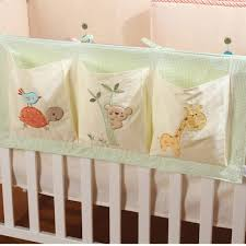 Nursery Cot Bedding Sets 100 Cotton Crib Organizer Baby Cot Bed Hanging Storage Bag