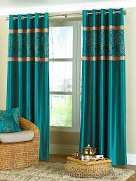 Teal Curtain Turquoise And Gold Curtains Great Home Interior And Furniture