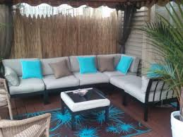Turquoise Sectional Sofa Mainstays Ragan Meadow Ii 7 Piece Outdoor Sectional Sofa Seats 5
