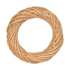 10in bleached willow wreath artificial wreaths