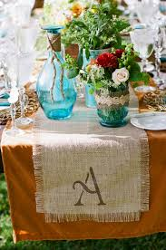 burlap table runner ideas 7389