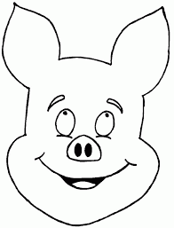 outline pig coloring