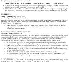 Resume For Substance Abuse Counselor Counseling Resume Cvlook03 Billybullock Us