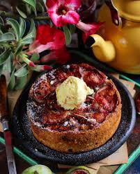 eggless pineapple upside down cake bake with shivesh