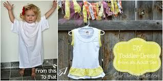 t shirt refashion u2013toddler dress our thrifty ideas