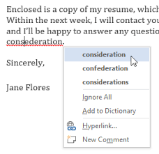 Correct Way To Spell Resume Word 2013 Checking Spelling And Grammar Full Page