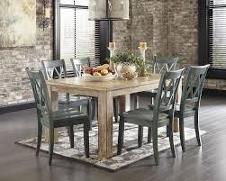 7 dining room sets 7 classic rustic dining room set washed pine blue sam