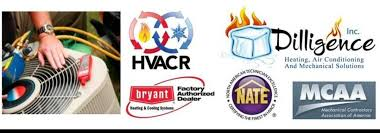 certified hvac company dilligence heating air serving