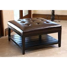 wonderful best ideas leather ottoman coffee table square u2013 square