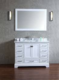 48 bathroom mirror stufurhome newport white 48 inch single sink bathroom vanity with