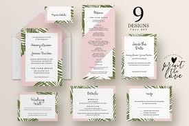 wedding invitation suites wedding invitation suite tropico invitation templates