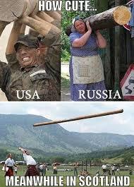 Russia Memes - how cute usa vs russia vs scotland